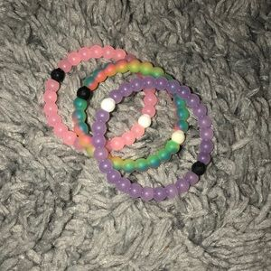 Three real Lokai bracelets